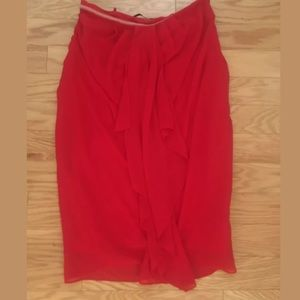 Womens ARK AND CO. Solid Red Strapless Dress